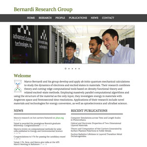 Marco Bernardi Research Group