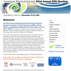 American Physical Society 63rd Annual Division of Fluid Dynamics Meeting