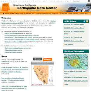 Southern California Earthquake Data Center