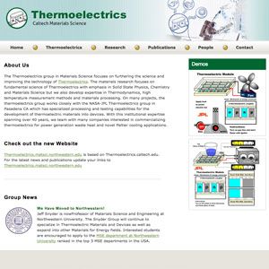 Thermoelectrics Research Group